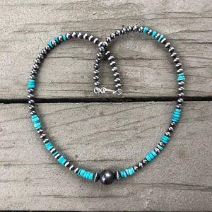 Kingman Turquoise Desert Pearl Necklace